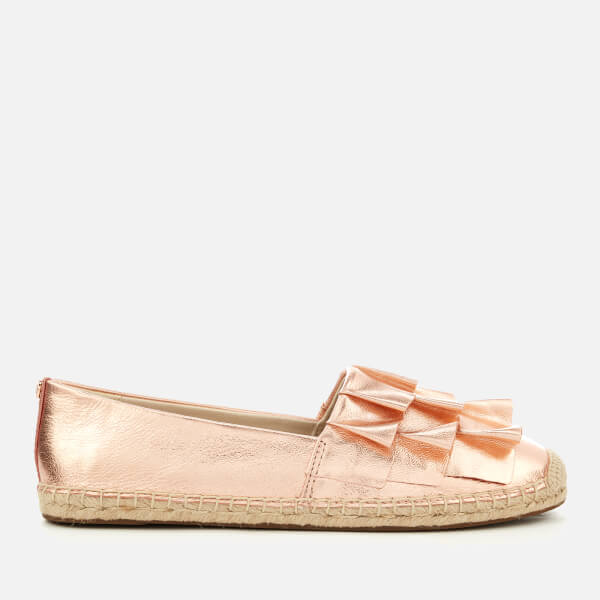MICHAEL MICHAEL KORS Women's Bella Metallic Leather Espadrilles - Soft Pink