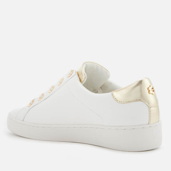 cd30e8c4b16 MICHAEL MICHAEL KORS Women s Irving Leather Low Top Trainers - Optic Gold   Image 2
