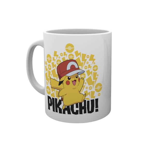 Pokémon Ash Hat Pikachu Mug