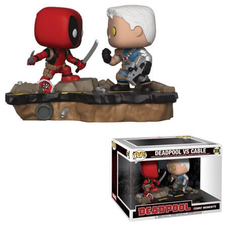 Deadpool Comic Moments Deadpool Vs Cable Pop Vinyl Figure