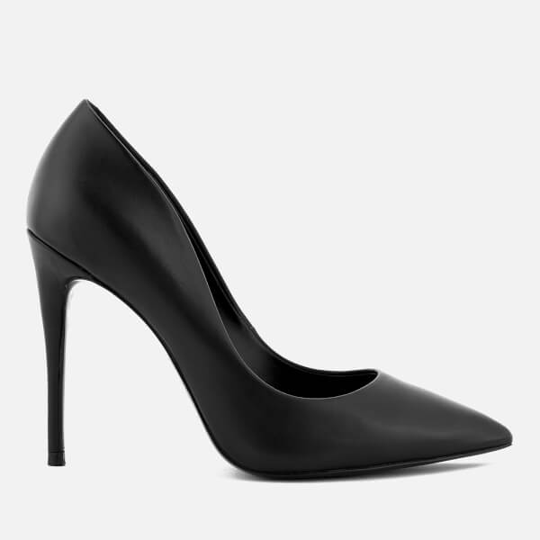 Steve Madden Women's Daisie Leather Court Shoes - Black