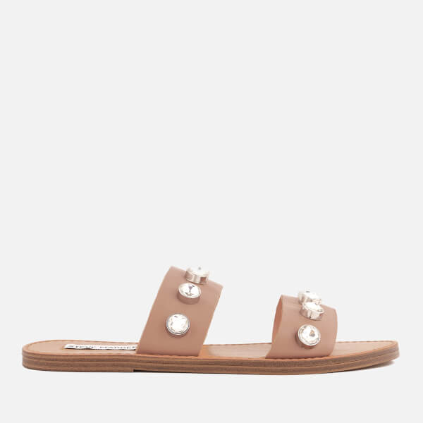 Steve Madden Women's Jessy Leather Double Strap Sandals - Nude