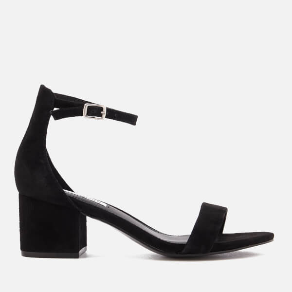 Steve Madden Women's Irenee Suede Block Heeled Sandals - Black