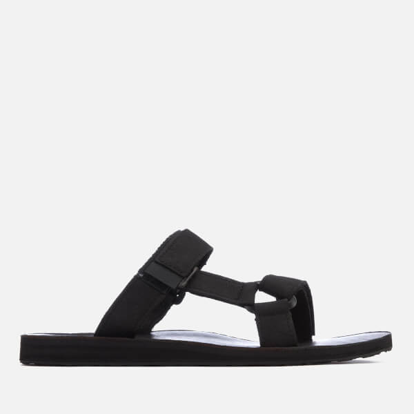 Teva Men's Universal Leather Slide Sandals - Black