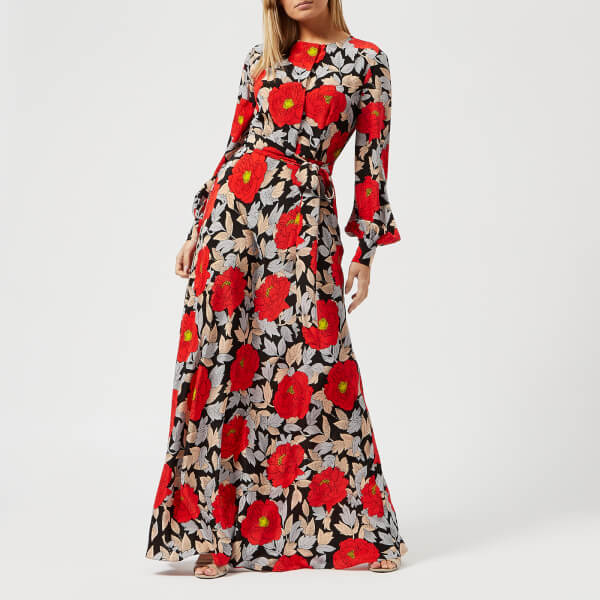 Diane von Furstenberg Women\'s Waist Tie Maxi Dress - Boswell Black ...