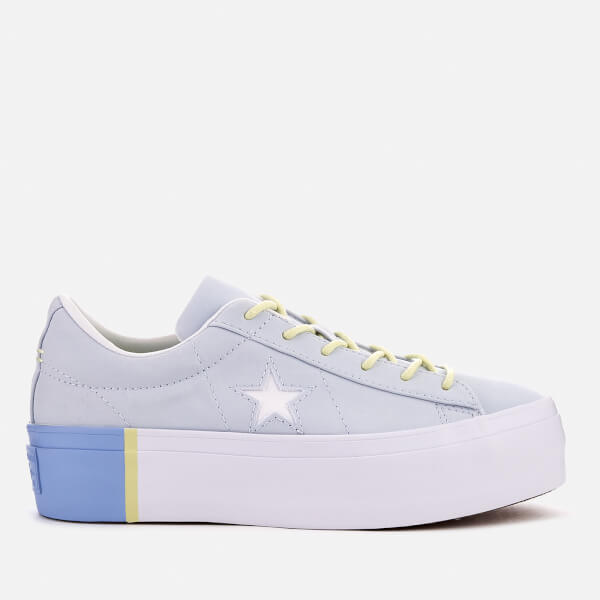 ea7f091ec8fb Converse Women s One Star Platform Ox Trainers - Blue Tint Blue Chill White  ...
