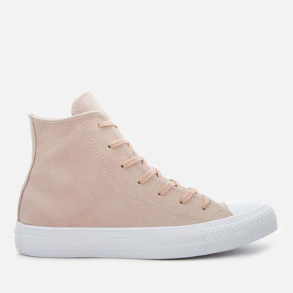 658907521 Converse Women s Chuck Taylor All Star Hi-Top Trainers - Particle Beige Silver White