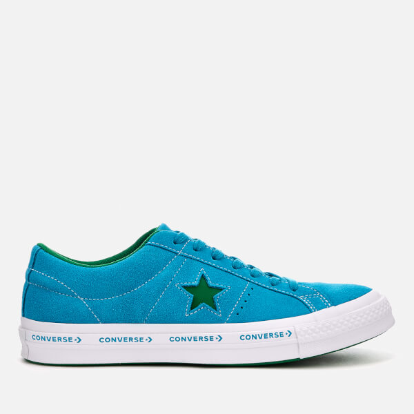 ConverseONE STAR OX YOUTH - Trainers - hawaiian ocean/jolly green aAHwU80mqx