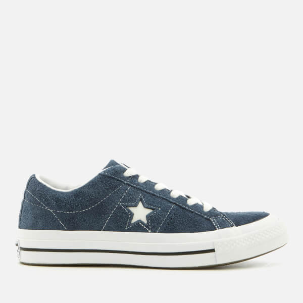 Converse One Star Ox Trainers - Navy White - Free UK Delivery over £50 14817d804