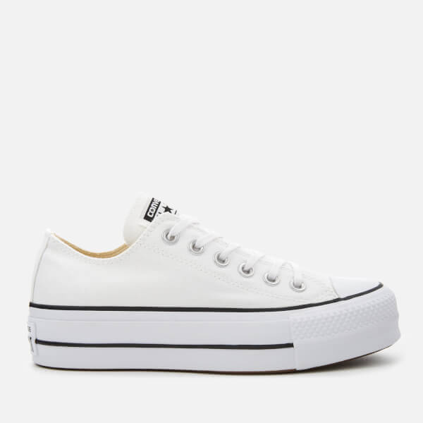 Converse Women s Chuck Taylor All Star Lift Ox Trainers - White Black   Image 1 5501dd9ad