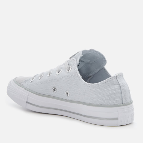 dc9790ed2b14 Converse Women s Chuck Taylor All Star Ox Trainers - Pure Platinum Silver  White