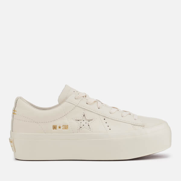 Converse Women's One Star Platform Ox Trainers - Egret
