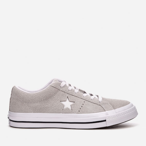 Converse One Star Ox Trainers - Ash Grey White  Image 1 ee7b890d0