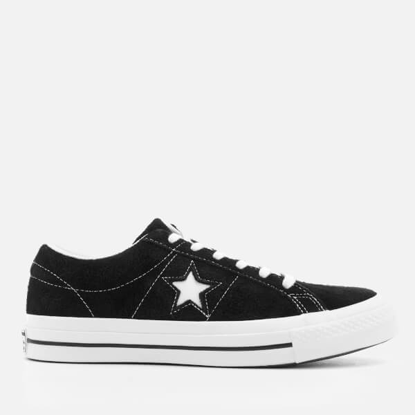 07c4cd0b4acd6d Converse One Star Ox Trainers - Black White  Image 1