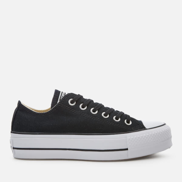 4db7b0bb0e40df Converse Women s Chuck Taylor All Star Lift Ox Trainers - Black White   Image 1
