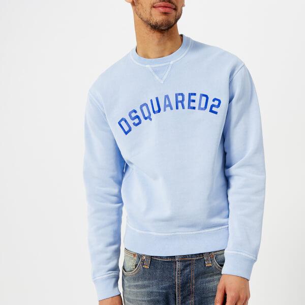 en el £ entrega sudadera con hombre más claro Reino de Unido para 50 Dsquared2 azul por logo gratuita qgvazwvf