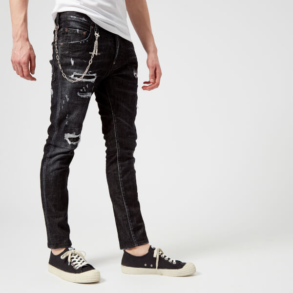 Dsquared2 Men's Black Buchi Wash Skater Jeans - Black