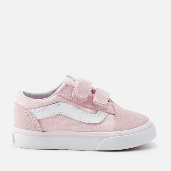 6c876da15268 Vans Toddlers  Suede Canvas Old Skool Trainers - Chalk Pink True White