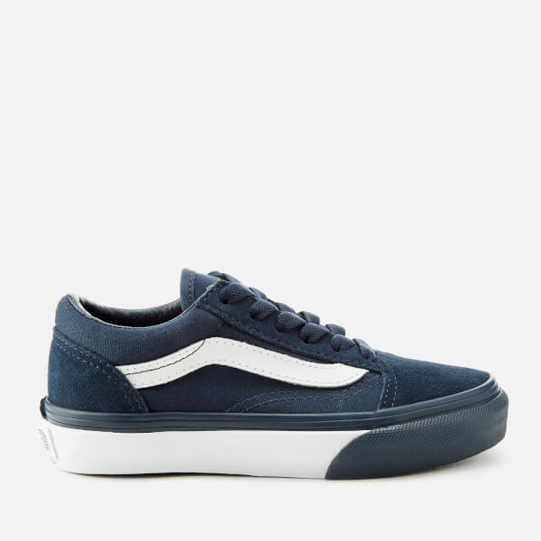 d56bce5c2ebcb6 Vans Kids  Mono Bumper Old Skool Trainers - Dress Blue True White  Image