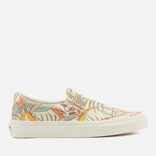 4de75ae36d7bdd Vans Women s California Floral Classic Slip-On Trainers - Marshmallow   Image 1