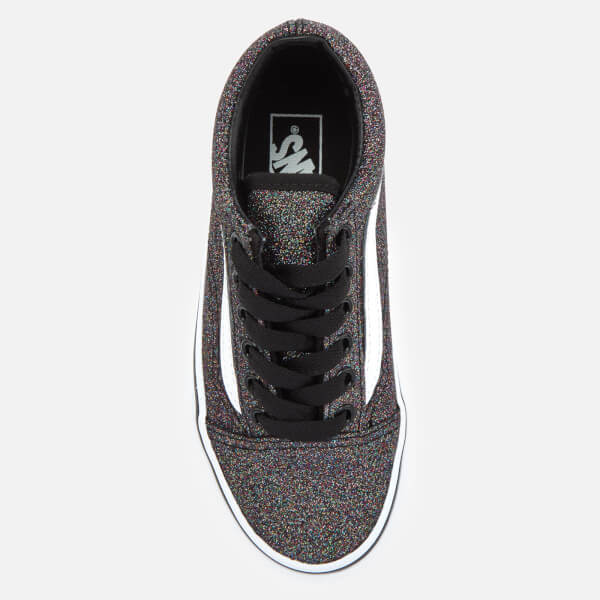 34dee79bdae251 Vans Kids  Glitter Old Skool Trainers - Rainbow Black Junior ...