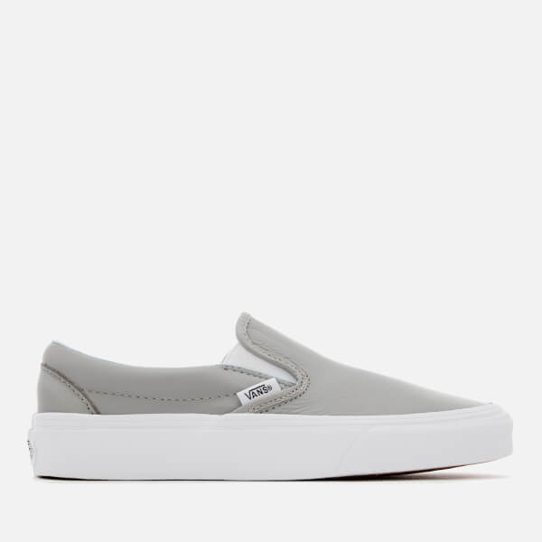 Vans Women's Classic Leather Slip-On Trainers - Oxford/Drizzle