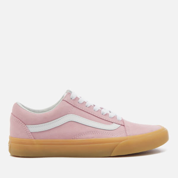 5a5ed3dfab Vans Women s Double Light Gum Old Skool Trainers - Chalk Pink  Image 1