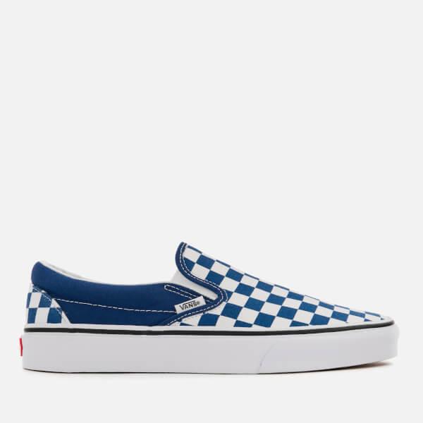 Vans Men's Checkerboard Slip-On Trainers - Estate Blue/True White