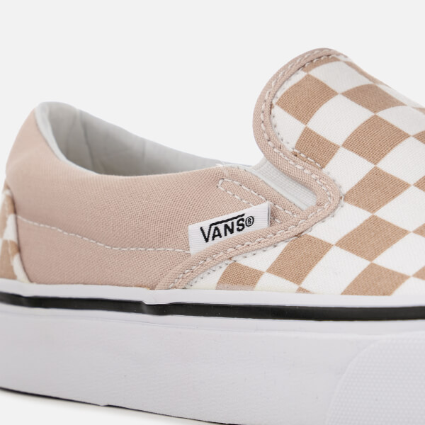 vans classic slip on checkerboard frappe true white