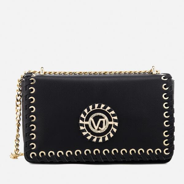 fdab1e0d88f3 Versace Jeans Women s Whip Stitched Shoulder Bag - Black Womens ...