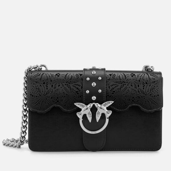 Pinko Women's Love Macrame Cross Body Bag - Black
