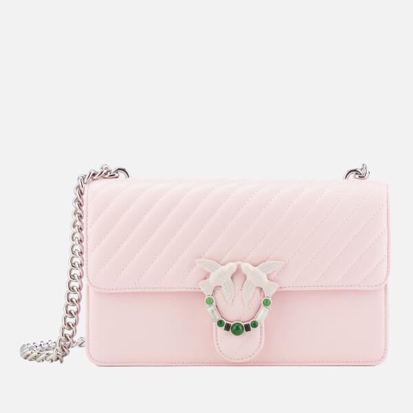 Pinko Women's Love Quilting Cross Body Bag - Pink