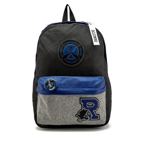Harry Potter Ravenclaw House Backpack with Patches - Black