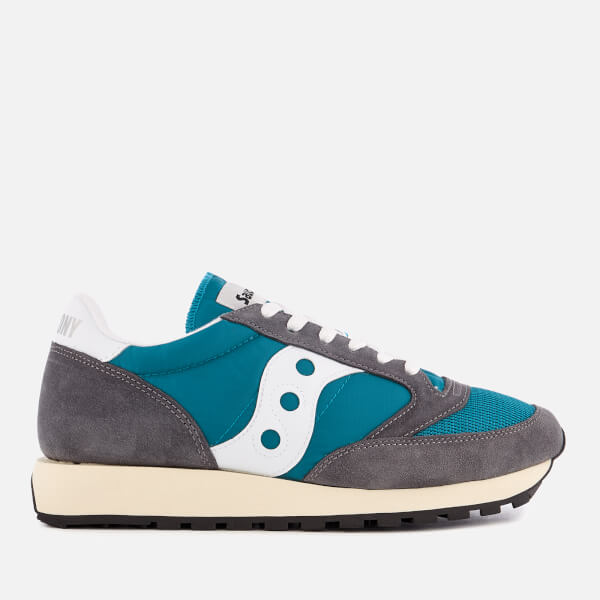 Saucony Men's Jazz Original Vintage Trainers - Castlerock/Teal