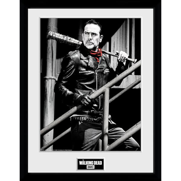 The Walking Dead Negan Stairs Framed Photograph 12 x 16 Inch