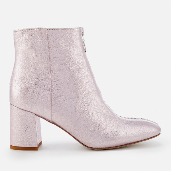 Cheap Professional Clearance Hot Sale Rebecca Minkoff Women's Stefania Metallic Heeled Ankle Boots - Rock - UK 3 Free Shipping Really Free Shipping Countdown Package Free Shipping In China DEAJGLMIEu