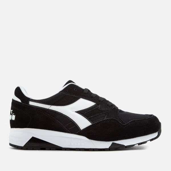 Diadora Men's N902 S Nylon/Suede Trainers - Black