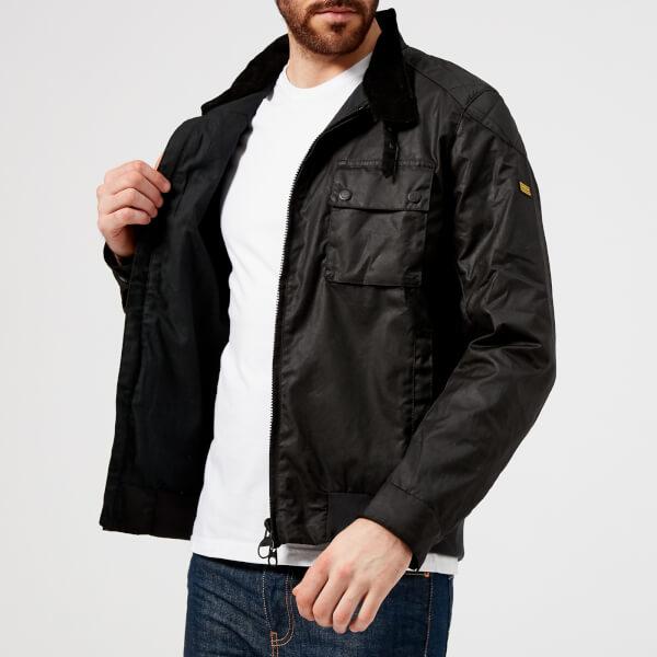 f2936ce4de30 Barbour International Men s Spec Wax Jacket - Black Clothing ...