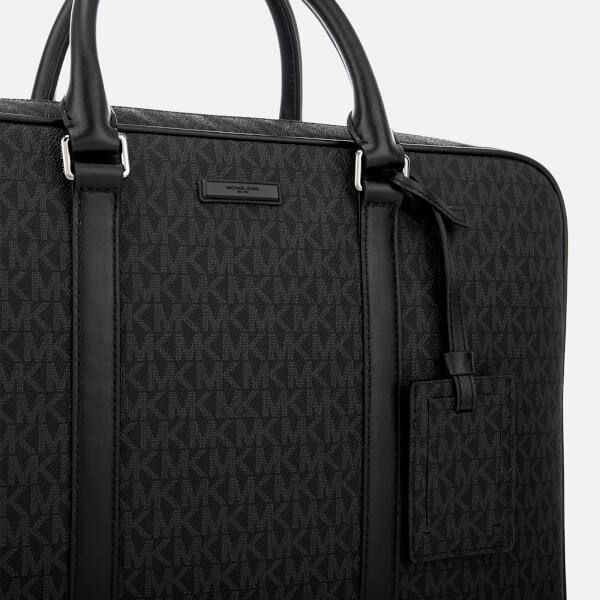 aeb9e607d907 Michael Kors Men s Jet Set Logo Briefcase - Black  Image 3