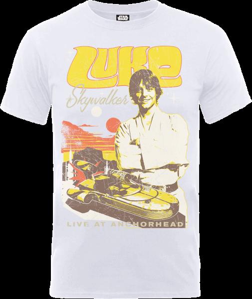 Star Wars Luke Skywalker Rock Poster T-Shirt - White