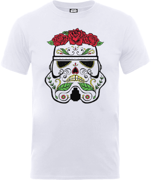 Star Wars Day Of The Dead Stormtrooper T-Shirt - White
