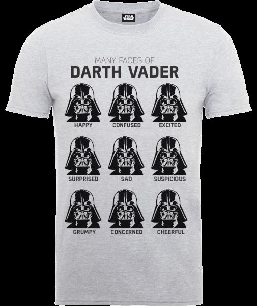 Star Wars Many Faces Of Darth Vader T-Shirt - Grey
