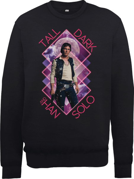 Star Wars Han Solo Tall Dark Sweatshirt - Black