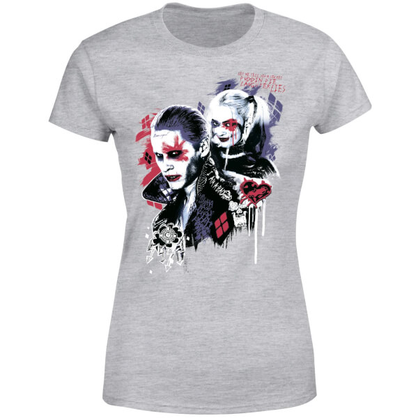 DC Comics Suicide Squad Harleys Puddin Women's T-Shirt - Grey