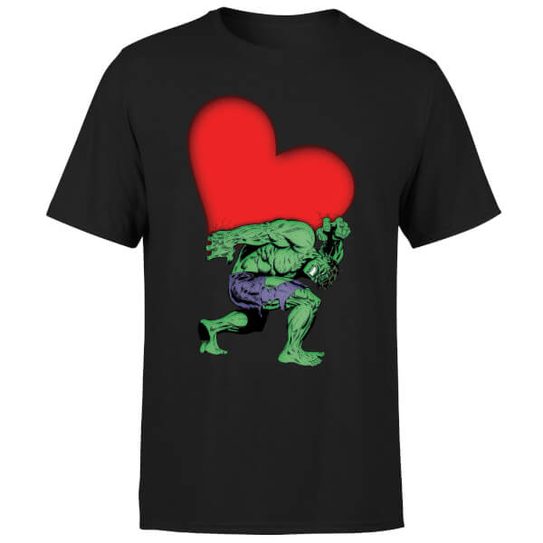 Marvel Comics Hulk Heart T-Shirt - Black
