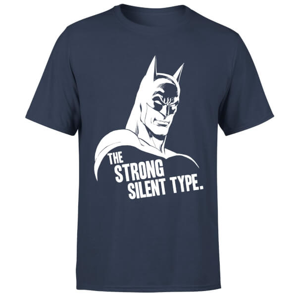 DC Comics Batman The Strong Silent Type T-Shirt - Navy