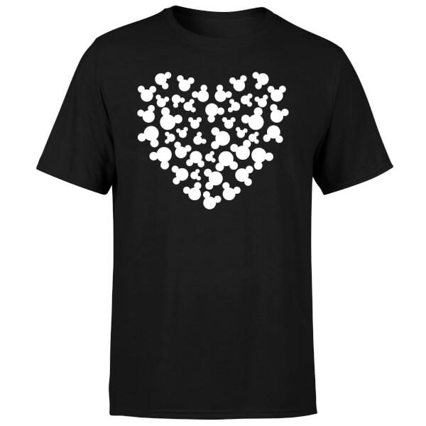 Disney Mickey Mouse Heart Silhouette T-Shirt - Black