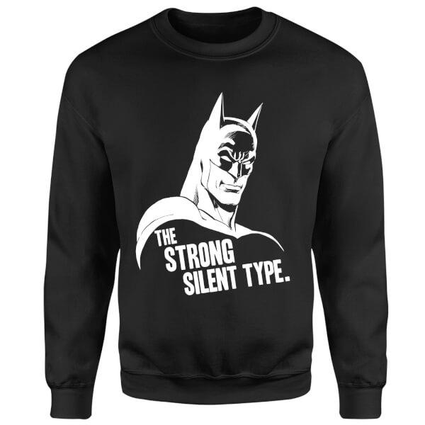 DC Comics Batman The Strong Silent Type Sweatshirt - Black