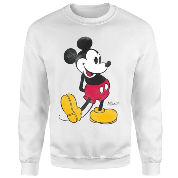 Disney Mickey Mouse Classic Kick Sweatshirt - White