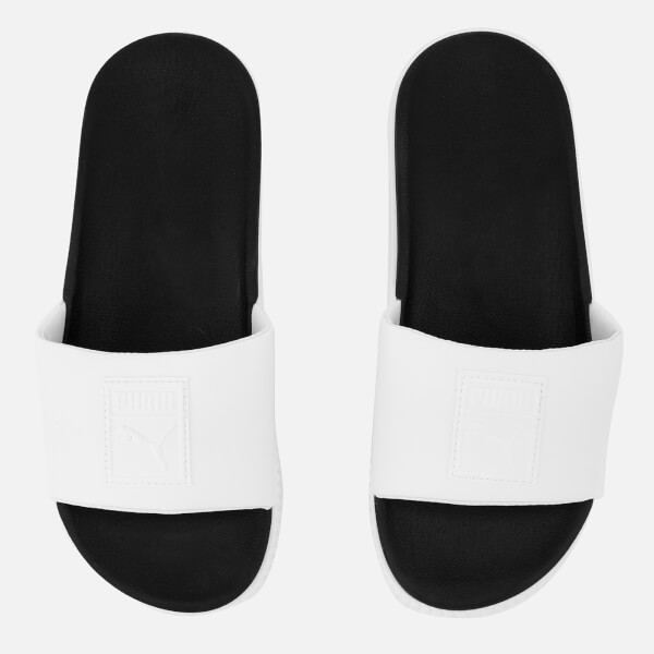 75a60f1a0e81c1 Puma Women s Platform Slide Sandals - White Black  Image 1